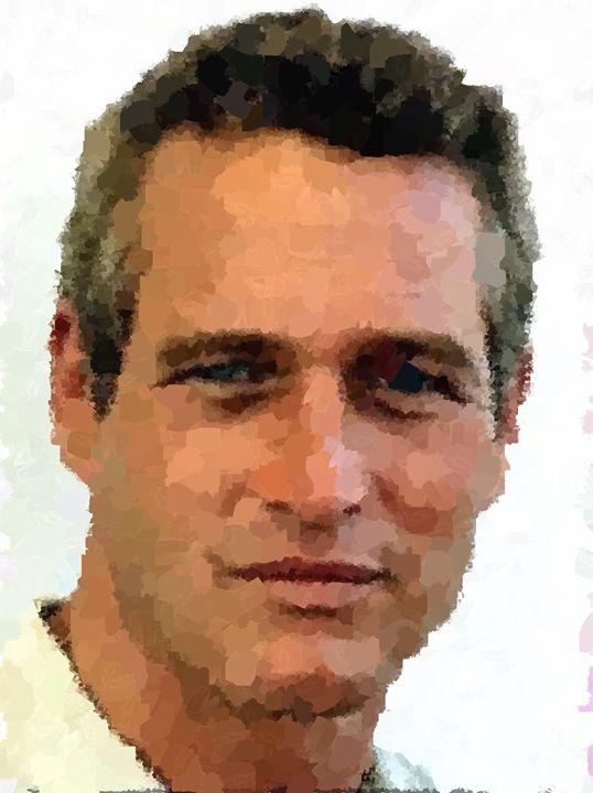 Paul Newman Portrait - Portraits by Samuel Majcen