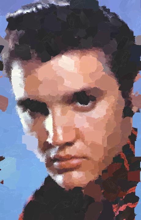 Elvis Aaron Presley Potrait - Portraits by Samuel Majcen