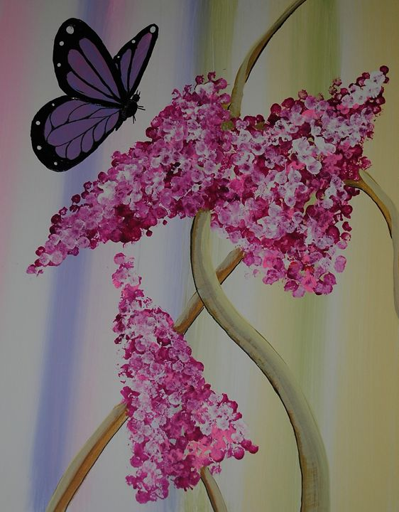 Butterfly and wildflowers. - Kathy Strickland