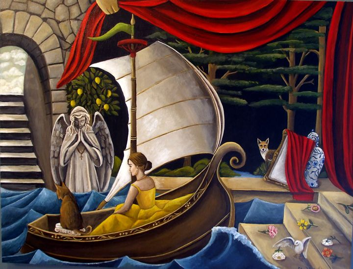What The Water Carries/SOLD - Catherine Nolin Art Studio
