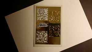 Christmas card with Embossed pattern