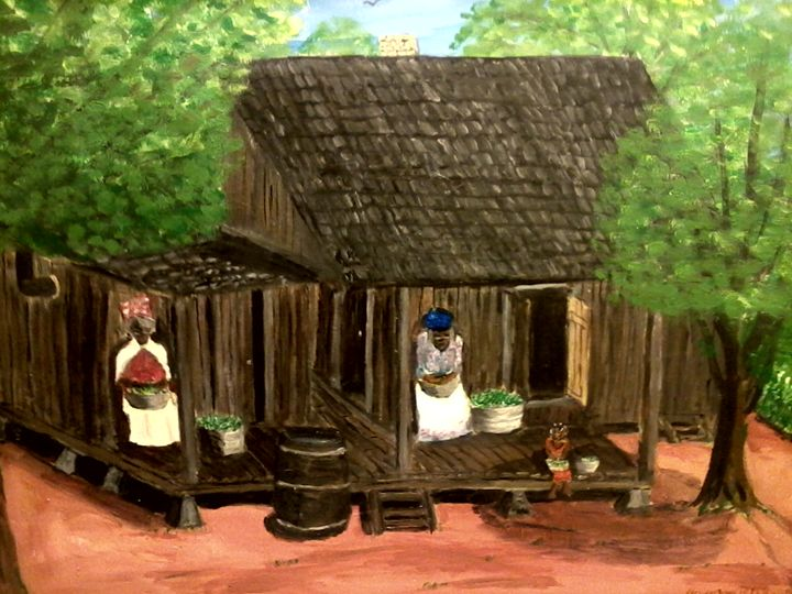 Shelling peas - NOAH'S Art Gallery