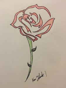 Rose tattoo - Tablet drawings