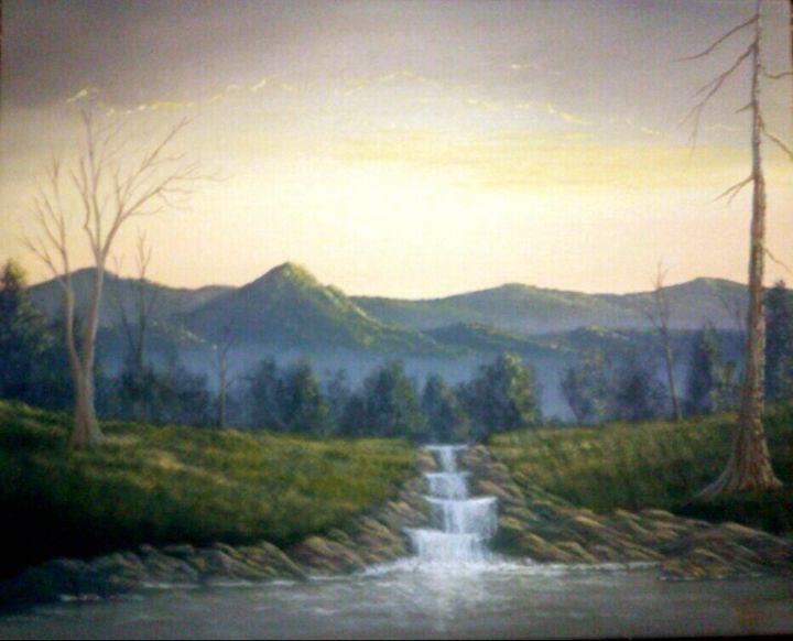Sunset Waterfall - Merrick Palmer
