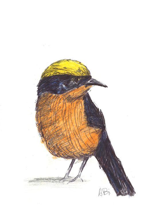 Reflective bird - al_isin_wonderland