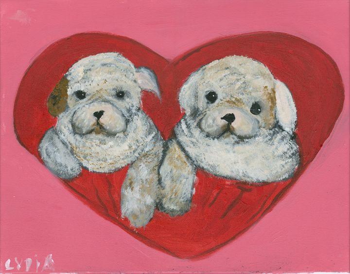 Puppy Love - Lydia's Art Gallery