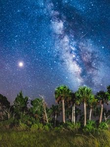 The Meteor, Mars and Milky Way