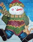 Snowman and Cat