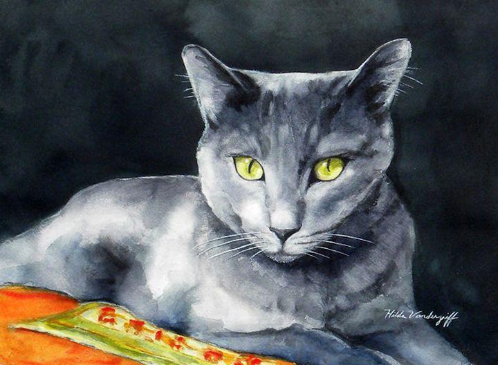 Grey Cat - Hilda Vandergriff