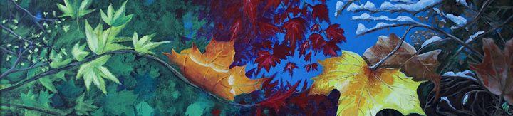 The 4 seasons (leaves, landscape) - Remy Grenier