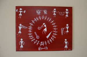 Warli oil painting