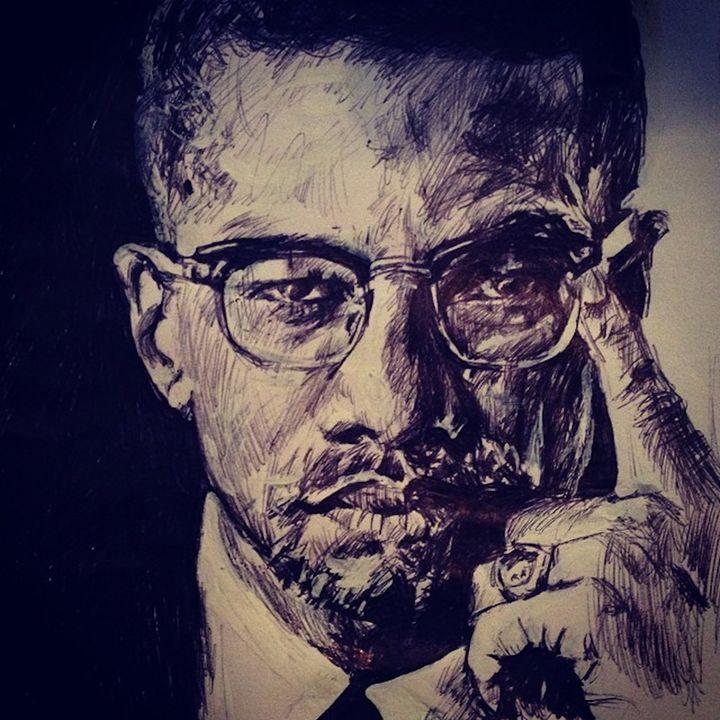 Malcolm X Portrait - Billy Jackson