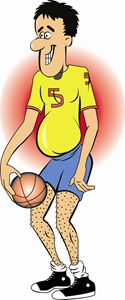 Basketball Player Cartoon Two