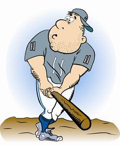 Cartoon Baseball Player One