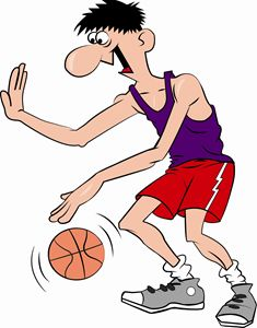 Basketball Player Cartoon One