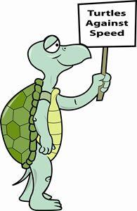 Turtle against speed