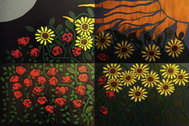 Rosas y Girasoles (Roses&Sunflowers) - E. Gutierrez