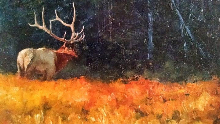 Elk Meadow - mstanish painting and sculpture