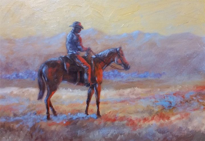 Lookin' for Strays - mstanish painting and sculpture