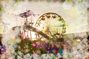 The Fair. Wheel At Sunset. #9