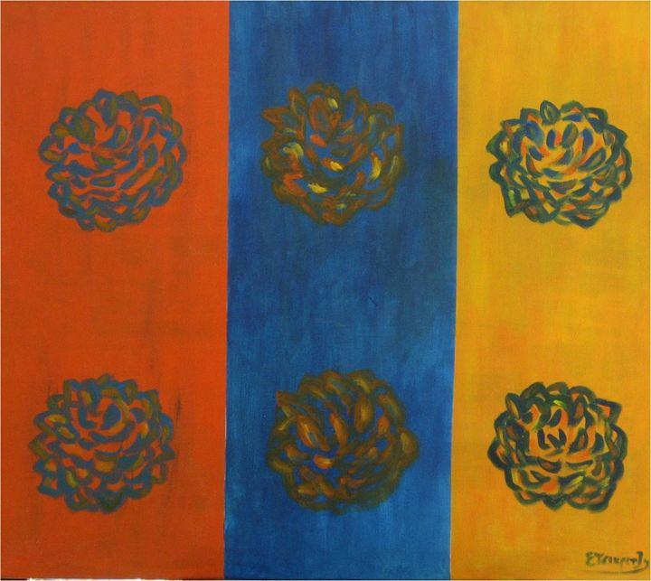 Flowers popping in art 2 - Elisabeth Tsikritzi