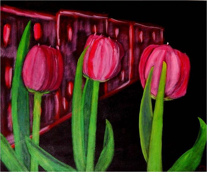Tulips in the city - Elisabeth Tsikritzi