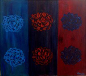 Flowers popping in art
