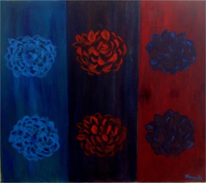Flowers popping in art - Elisabeth Tsikritzi