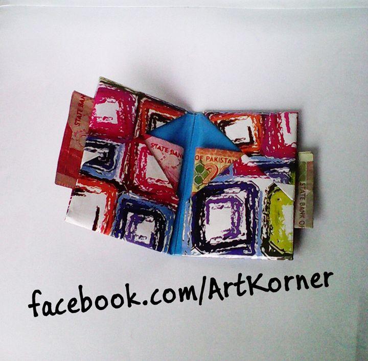 Handmade origami Paper Card holder - Art Korner