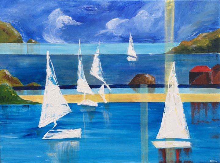 Lines on the water   (A030) - KATIA-ART