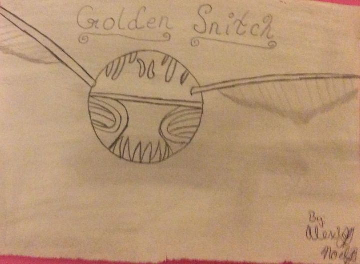 Golden snitch - Black and white Harry Potter drawings