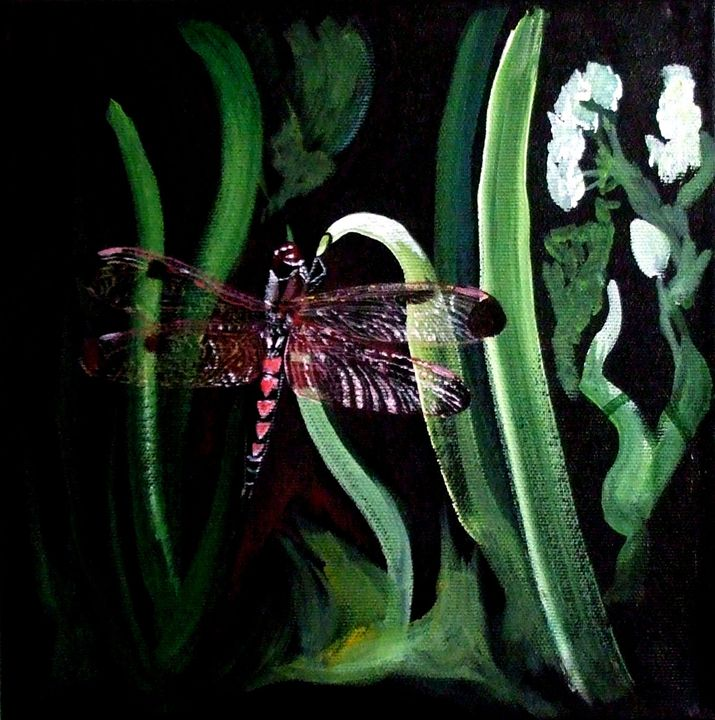 Pink Dragonfly - Alice