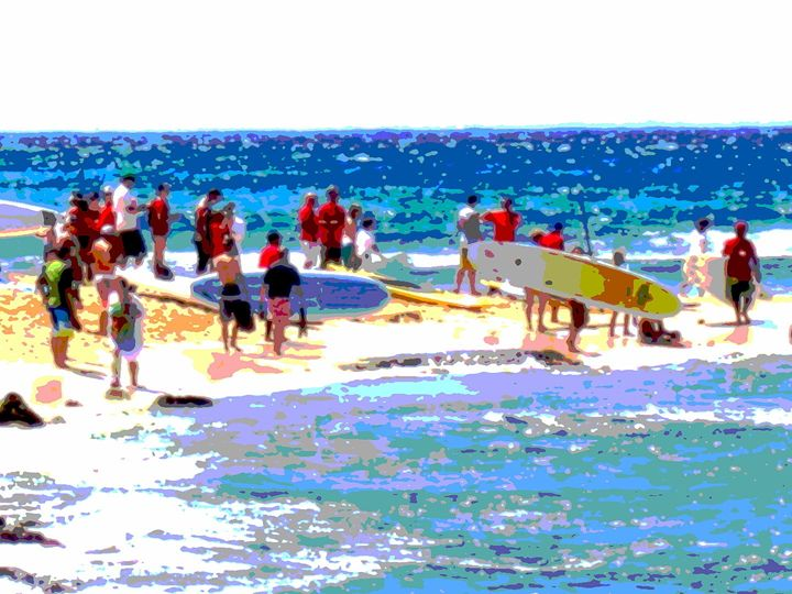 Ready to Paddle - Blue Fusion Surf Art