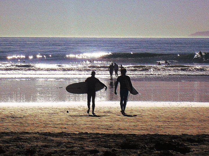 HB - Blue Fusion Surf Art