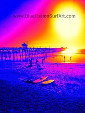 Blue Fusion Surf Art