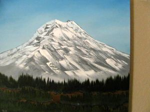 Snow Covered Volcano