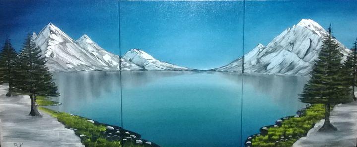 Mountain Lake - Art by Brad Kammeyer