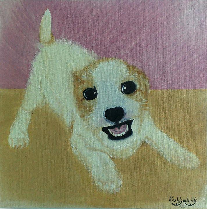 Cutest puppy in the world - KoshkadelikArt