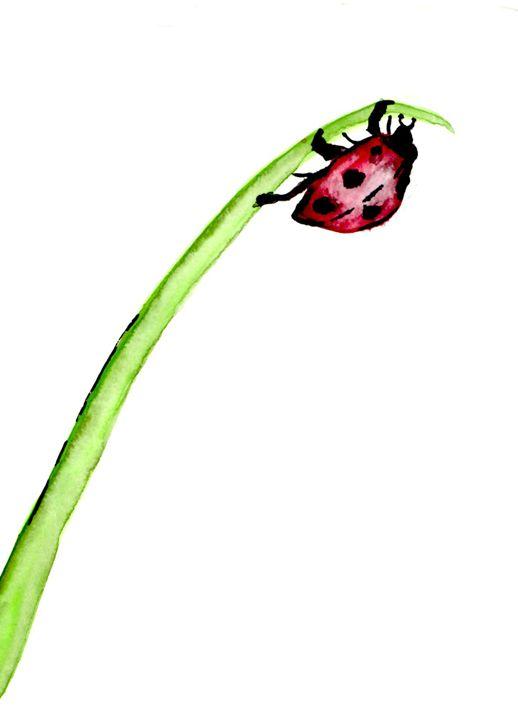 Teeny Tiny Lady Bug - Art by Tea Silvestre Godfrey