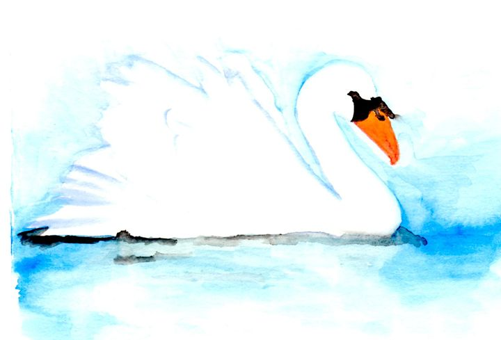 Ugly Duckling Comes Into Her Own - Art by Tea Silvestre Godfrey