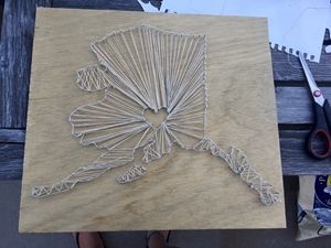 State Love string art