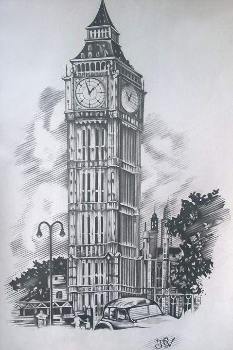 London Big Ben Vasil Paintings Amp Prints Buildings