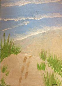 Cresting the dune