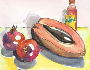 MAMEY AND POMEGRANATES