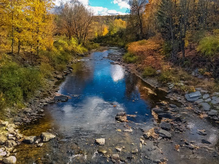 Autumn in Vermont, Woodstock - Saco River Art & Photography