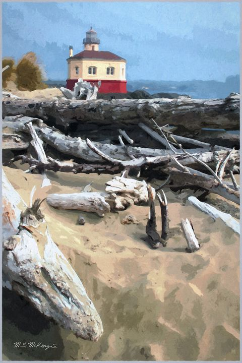 After the Storm Coquille River Light - Saco River Art & Photography