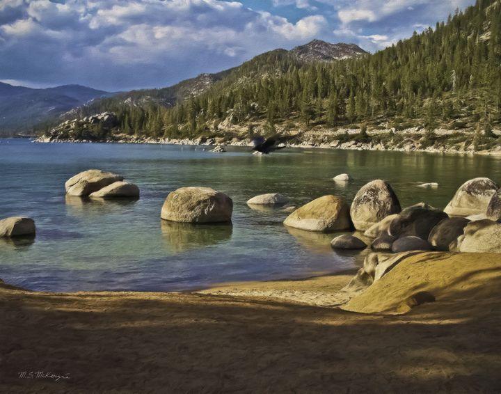 Boulder Strewn Beach, Lake Tahoe NV - Saco River Art & Photography