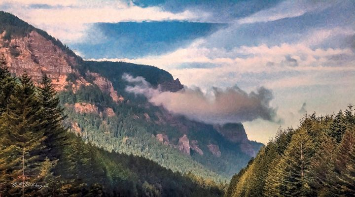 Early Morning, Columbia River Gorge - Saco River Art & Photography