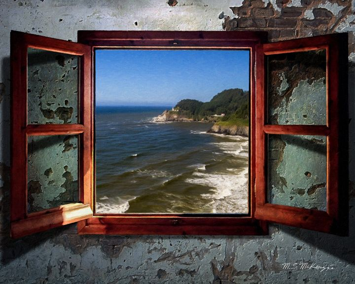 Open Window Heceta Head Light OR - Saco River Art & Photography