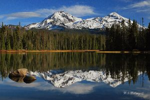 Scott Lake Reflections Oregon